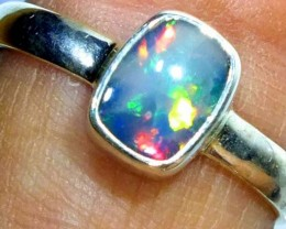 DOUBLET OPAL SILVER RING 10.15 CTS   OF-797
