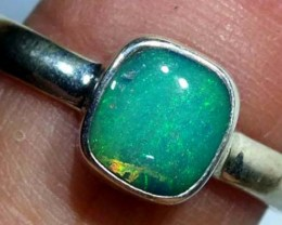 DOUBLET OPAL SILVER RING 10.8 CTS   OF-800