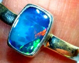 DOUBLET OPAL SILVER RING 10.8 CTS   OF-801