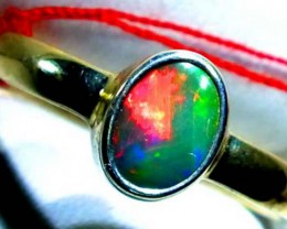 DOUBLET OPAL SILVER RING 10.15 CTS   OF-808