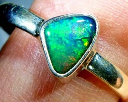 DOUBLET OPAL SILVER RING 10.7 CTS   OF-813