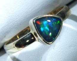 DOUBLET OPAL SILVER RING 10.55 CTS   OF-818