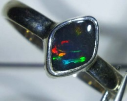 DOUBLET OPAL SILVER RING 9.7 CTS   OF-823