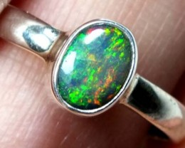 DOUBLET OPAL SILVER RING 9.75 CTS   OF-824