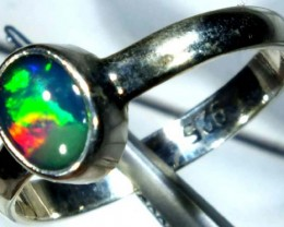 DOUBLET OPAL SILVER RING 9.5 CTS   OF-826