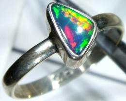 DOUBLET OPAL SILVER RING 10.15 CTS   OF-827