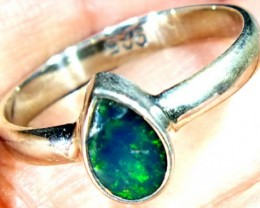 DOUBLET OPAL SILVER RING 9.85 CTS   OF-828