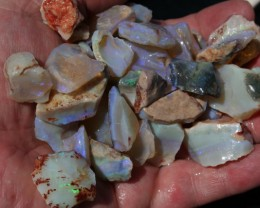 Coober Pedy Opal Valley Green and Blue parcel 5 ounces.