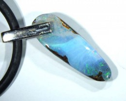 BOULDER OPAL STERLING SILVER PENDANT 10.7 CTS LO-1552