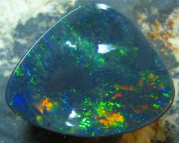 # 3.90 CTS BLACK OPAL FIRE FREEFORM ELECTRIC FOREST GREEN FIRE MOZ114