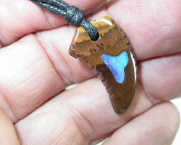 18 CTS OPAL CARVING BOULDER INLAY PENDANT  { BMI-3 }