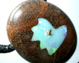 58 CTS BOULDER OPAL  INLAYED WITH STRAP   { BMI- 30}