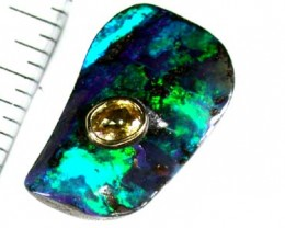 VIDEO BEAUTIFUL BOULDER OPAL WITH SAPPHIRE 17.7 CTS GR219