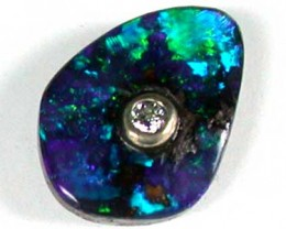 BOULDER OPAL DIAMOND INLAID  2.85 CTS GR218