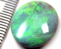 VIDEO STUNNING GREEN LUSTROUS GLOW BLACK OPAL 7.30 CTS B393A