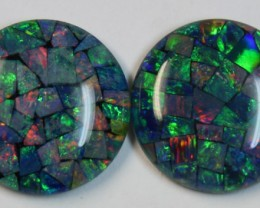 29.70 cts AAA + MOSAIC PAIR TOP CRYSTAL OPAL USE TO MAKE THESE MOSAICS