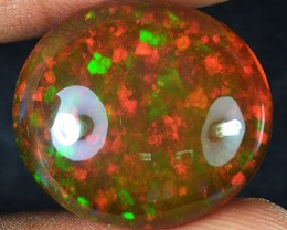 25.02 Carats Remarkbale Glow Of Multi-Colors. Brown Base Welo Opal