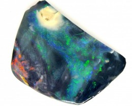 16.90 CTS OPAL BLACK ROUGH L RIDGE  TBO-3039