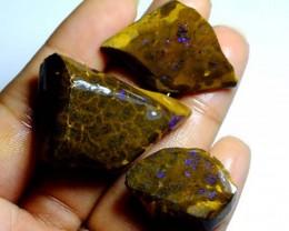 171cts Australian Boulder Opal Rough 3pcs C90