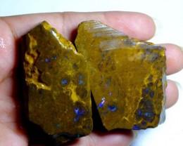 309cts Australian Boulder Opal Rough 2pcs C91