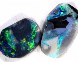 BLACK OPAL ROUGH 2PCS 7.6  CTS DT-3831