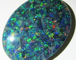 66 Cts large oval  Mosaic triplet  Opal  AGR769