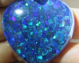 71.85 Cts large Heart  Mosaic triplet  Opal  AGR772