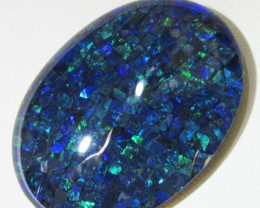 71.8 Cts large Oval  Mosaic triplet  Opal  AGR773