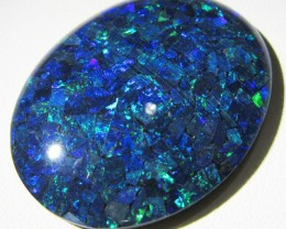 66.5 Cts large oval  Mosaic triplet  Opal  AGR774