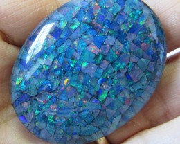 75.3 Cts large Oval  Mosaic triplet  Opal  AGR775