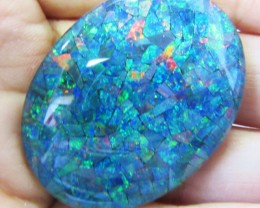70.15 Cts large Oval  Mosaic triplet  Opal  AGR777