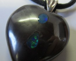 CTS  Boulder   Pendant  Opal Crystal  Inlay AGR355