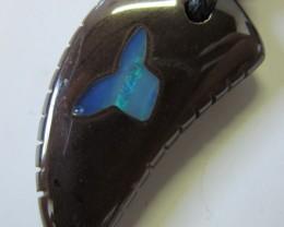 CTS  Boulder   Pendant  Opal Crystal  Inlay AGR362