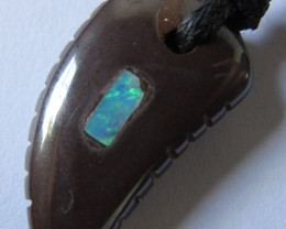 CTS  Boulder   Pendant  Opal Crystal  Inlay AGR340