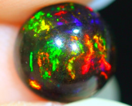 6x6mm Nice Rainbow Ethiopia Welo Black Smoked Opal