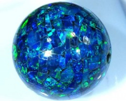 MOSAIC OPAL BEAD  DRILLED 19.80 CTS  LO-1612