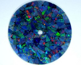 MOSAIC OPAL INLAY WATCH FACE 2.85 CTS  LO-1651
