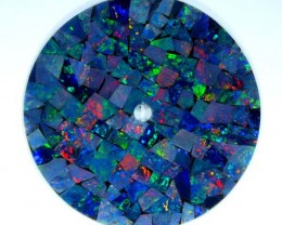 MOSAIC OPAL INLAY WATCH FACE 1652 CTS  LO-1652