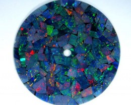 MOSAIC OPAL INLAY WATCH FACE 2.80 CTS  LO-1653