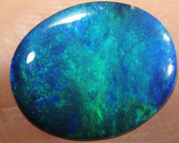 1.7Cts Cabochon Good  Black Opal  SCA 1344A