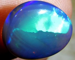 2.3Cts DOUBLE SIDED Good  Black Crystal Opal  A 819A