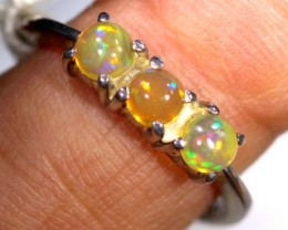 ETHIOPIAN OPAL RING STERLING SILVER  14.0 CTS    OF-894