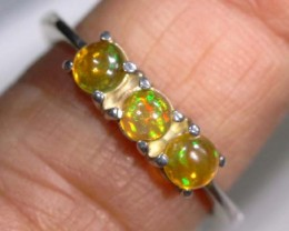 ETHIOPIAN OPAL RING STERLING SILVER 14.35 CTS    OF-895