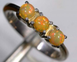 ETHIOPIAN OPAL RING STERLING SILVER  15.20CTS    OF-897
