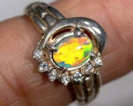 TRIPLET OPAL SILVER RING  16.70 CTS OF- 898