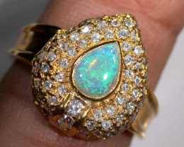 CRYSTAL OPAL GOLD PLATED RING  22.80 CTS OF-899