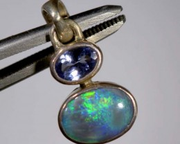 BLACK OPAL SILVER PENDANT 7.70  CTS     OF-901