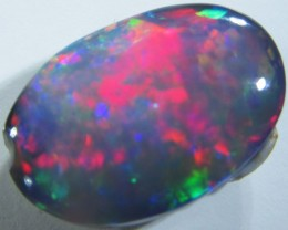 1.6 Cts Cabochon Good  Black Opal  SCO694A