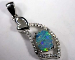 DOUBLET OPAL SILVER PENDENT 7.50   CTS   OF-903