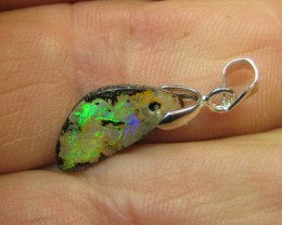 "4cts.FLASHY BOULDER OPAL ""N"" BAIL."